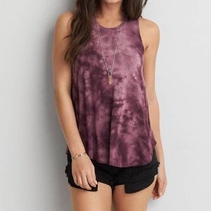 American Eagle Purple Tie-dye Soft and Sexy